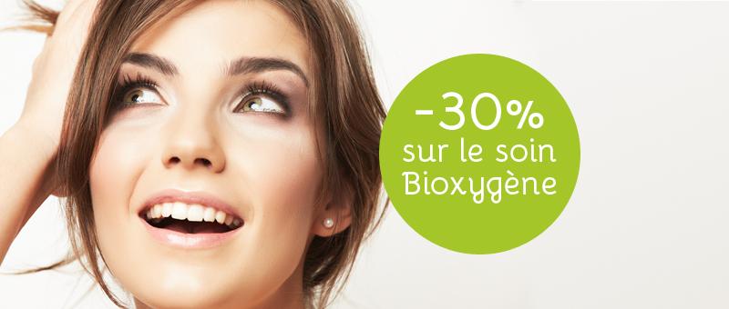 30% de rabais sur le soin Bioxygène