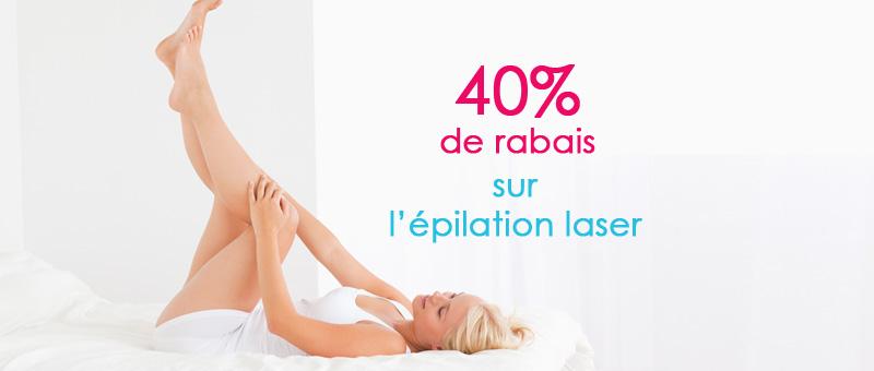 40% sur l'épilation laser
